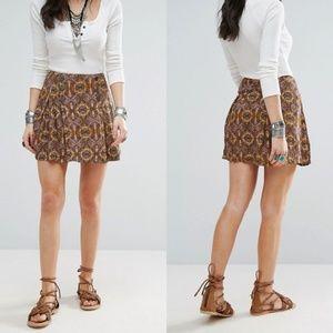 Free People Lovers Lane Printed Mini Skirt Size 2